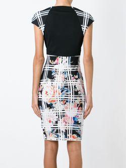 Checked Fitted Dress Roberto Cavalli                                                                                                              чёрный цвет