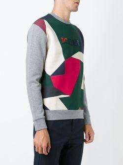 Collage Print Sweatshirt ICEBERG                                                                                                              серый цвет