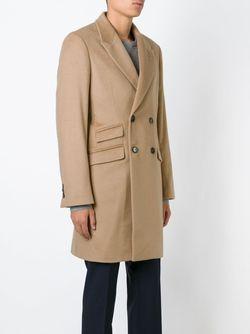 Двубортное Пальто Ports                                                                                                              коричневый цвет