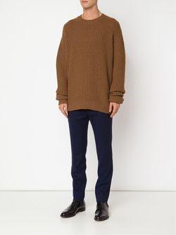 Свитер Крупной Вязки Haider Ackermann                                                                                                              коричневый цвет