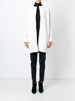 Пальто С Воротником-Воронкой Ralph Lauren Black Label                                                                                                              белый цвет