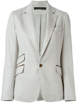 Приталенный Пиджак Ralph Lauren Black Label                                                                                                              серый цвет