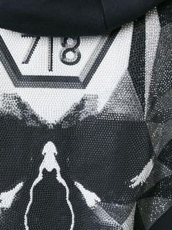 Декорированная Толстовка С Принтом Черепа Philipp Plein                                                                                                              чёрный цвет