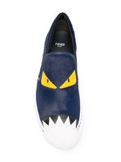 Кеды Bag Bugs Fendi                                                                                                              синий цвет