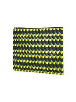 Клатч С Геометрическим Принтом Kenzo                                                                                                              чёрный цвет