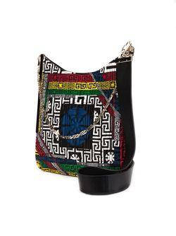 Сумка На Плечо Vanitas С Этническим Узором Versace                                                                                                              черный цвет