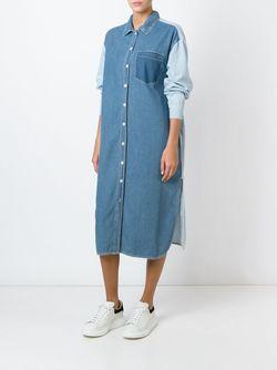 Джинсовое Платье-Рубашка Steve J & Yoni P                                                                                                              синий цвет