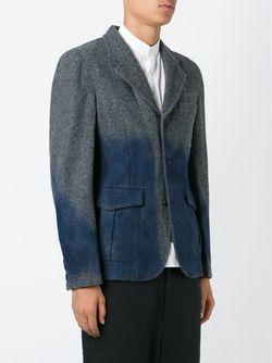 Контрастный Пиджак Comme Des Garcons                                                                                                              серый цвет