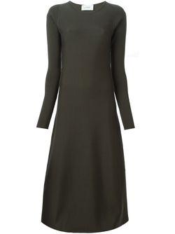 Вязаное Расклешенное Платье LEMAIRE                                                                                                              зелёный цвет