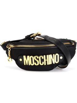 Сумка-Пояс С Логотипом Moschino                                                                                                              чёрный цвет