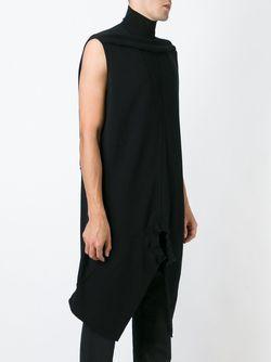 Асимметричный Топ Rick Owens                                                                                                              чёрный цвет