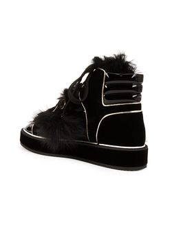 Polly Neige Hi-Top Sneakers Nicholas Kirkwood                                                                                                              чёрный цвет