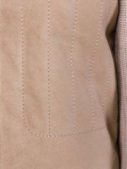Куртка С Рукавами И Спиной Ребристой Вязки Tory Burch                                                                                                              Nude & Neutrals цвет