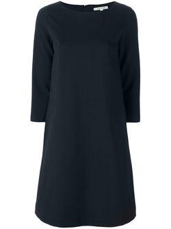 Платье-Шифт С Рукавами 3/4 Hache                                                                                                              синий цвет