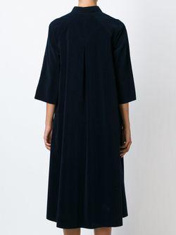 Вельветовое Платье-Рубашка Forte Forte                                                                                                              синий цвет