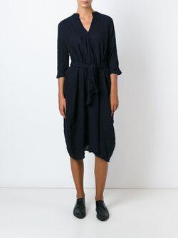 Платье-Рубашка С Состаренным Эффектом DANIELA GREGIS                                                                                                              синий цвет