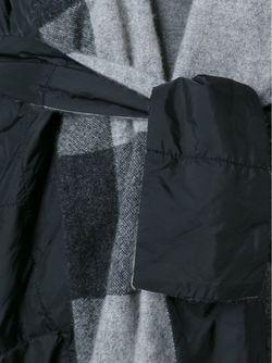 Двустороннее Дутое Пальто В Клетку DANIELA GREGIS                                                                                                              чёрный цвет