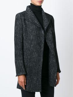 Твидовое Пальто На Молнии Akris                                                                                                              чёрный цвет