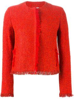 Твидовый Пиджак С Бахромой Akris                                                                                                              красный цвет
