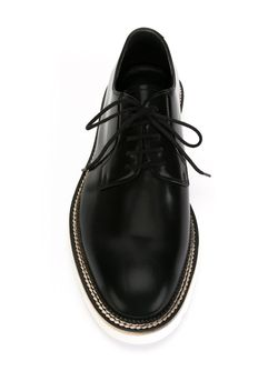 Contrast Sole Derby Shoes Alexander McQueen                                                                                                              черный цвет