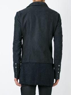 Байерская Куртка С Высоким Воротником Rick Owens                                                                                                              синий цвет