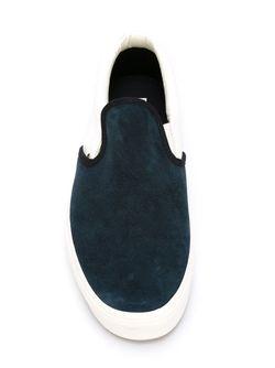Двухцветные Кеды Слип-Он Vans                                                                                                              синий цвет
