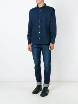 Рубашка С Мелким Узором В Горох Eleventy                                                                                                              синий цвет