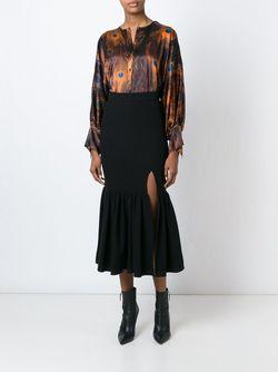 Юбка С Расклешенным Подолом Givenchy                                                                                                              чёрный цвет