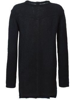Slash Neck Sweater Rick Owens                                                                                                              синий цвет