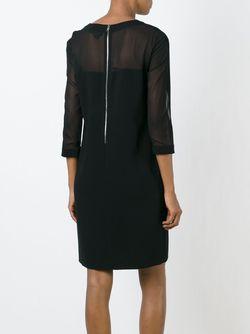 Платье Шифт С Прозрачными Панелями DKNY                                                                                                              чёрный цвет