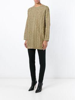 Cable Knit Sweater Valentino                                                                                                              серебристый цвет