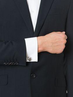 Запонки С Подвесками-Черепами Alexander McQueen                                                                                                              серебристый цвет