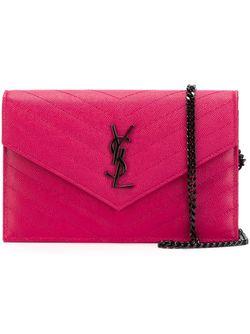 Сумка Monogram Saint Laurent                                                                                                              розовый цвет
