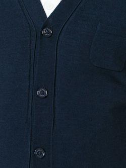 Кардиган C V-Образным Вырезом Paolo Pecora                                                                                                              синий цвет