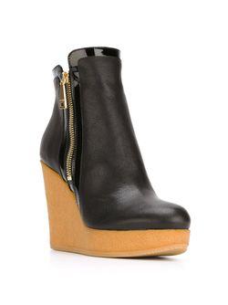 Ботинки На Танкетке Hogan                                                                                                              черный цвет