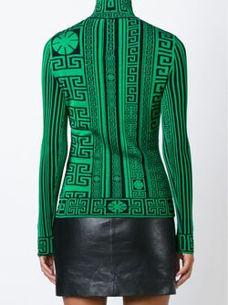 Greek Turtle Neck Sweater Versace                                                                                                              чёрный цвет