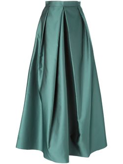 Плиссированная Длинная Юбка Yang Li                                                                                                              зелёный цвет
