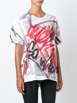Graffiti Print T-Shirt Faith Connexion                                                                                                              белый цвет