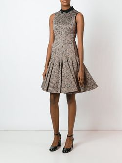 Расклешенное Жаккардовое Платье Rochas                                                                                                              чёрный цвет