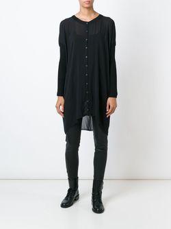 Прозрачная Рубашка Свободного Кроя Kristensen Du Nord                                                                                                              чёрный цвет