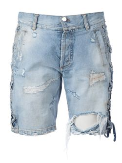 Distressed Denim Shorts Faith Connexion                                                                                                              синий цвет