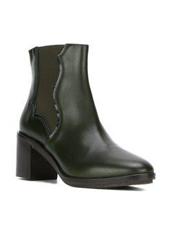 Ботинки На Массивном Каблуке L' Autre Chose                                                                                                              зелёный цвет
