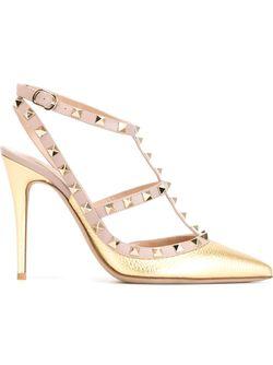 Туфли Rockstud Valentino Garavani                                                                                                              серебристый цвет