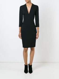 Облегающее Платье С V-Образным Вырезом Alexandre Vauthier                                                                                                              чёрный цвет