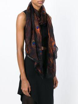 Шарф С Принтом Павлиньих Перьев Givenchy                                                                                                              многоцветный цвет