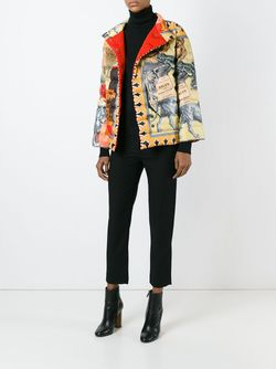 Дутая Куртка С Комбинированным Принтом Etro                                                                                                              многоцветный цвет