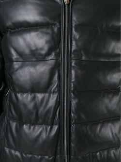 Дутая Куртка С Капюшоном Herno                                                                                                              чёрный цвет