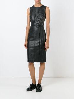 Приталенное Платье Без Рукавов Vince                                                                                                              черный цвет