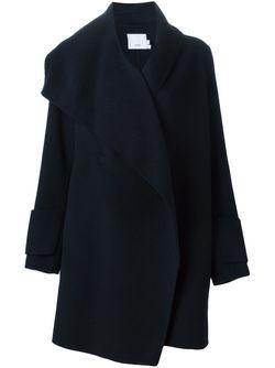 Асимметричное Пальто С Запахом Vince                                                                                                              синий цвет