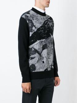 Свитер В Технике Интарсия Givenchy                                                                                                              черный цвет